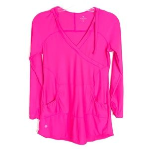 """Athleta """"Wick It Wader"""" hooded swim cover up dress"""
